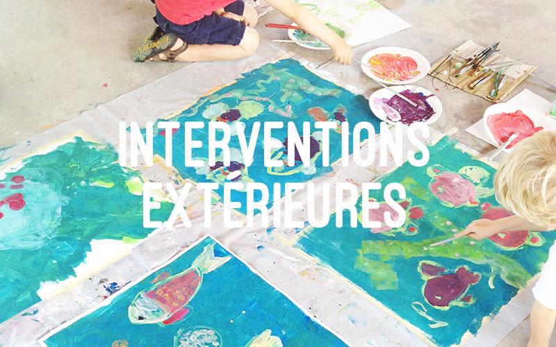 ateliers créatifs en interventions extérieures