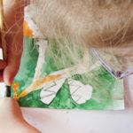 photo de cours d'arts plastiques à l'atelier