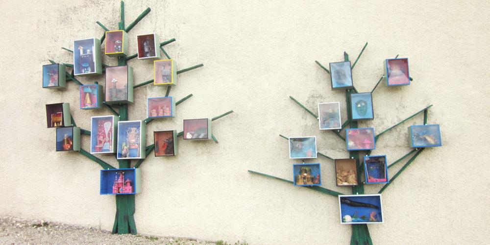 photo atelier d'arts plastiques réalisé lors d'une intervention extérieure