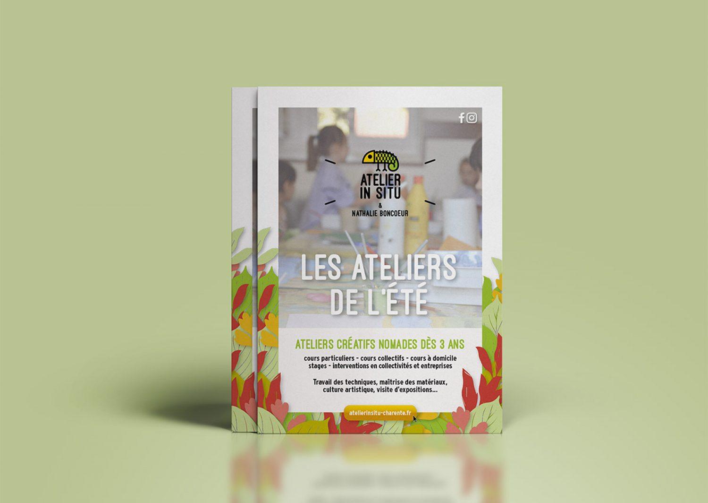 Flyers ateliers été In Situ Charente Arts Plastiques